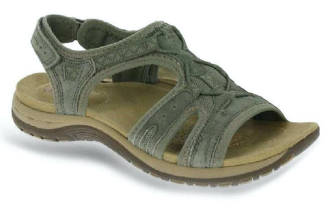Earth Spirit Fairmont SAGE Leather Velcro Strap Sandal