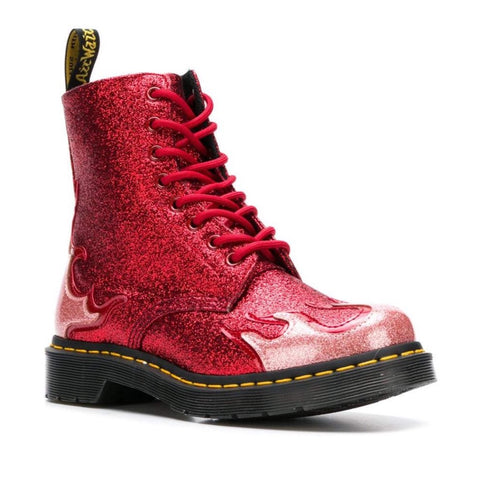 Dr Martens 1460 Pascal Flame RED Glitter