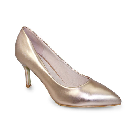 Ladies Lunar Court Shoe FLC090 Petal in Gold matching bag available