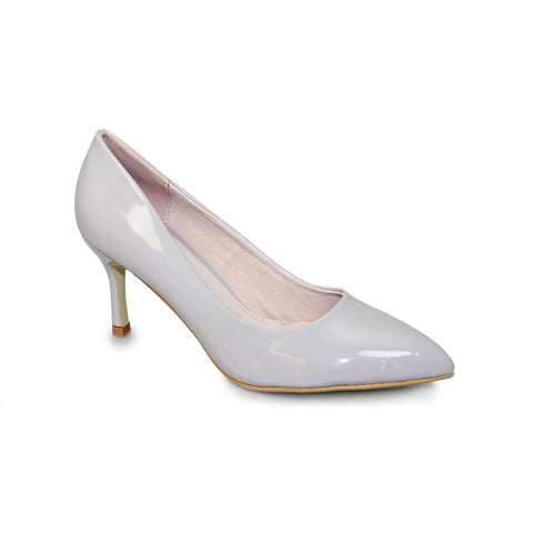 Ladies Lunar Court Shoe FLC090 Petal in Grey matching bag available