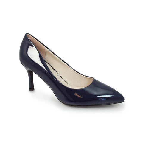 Ladies Lunar Court Shoe FLC090 Petal in Navy matching bag available