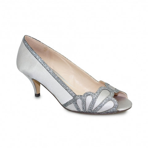 Ladies Lunar Dalia Court Shoe FLR470 in Grey