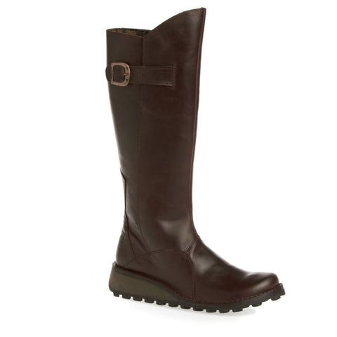 Fly London Long Boots MOL 2 Dark Brown RRP £155.00