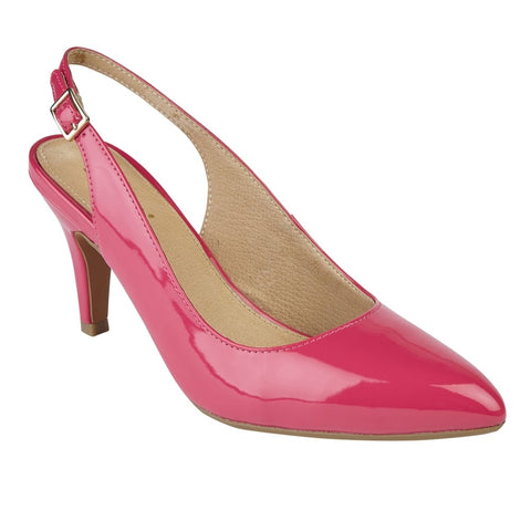 Lotus 50592 Fuschia Patent Nadia Sling-Back Shoe