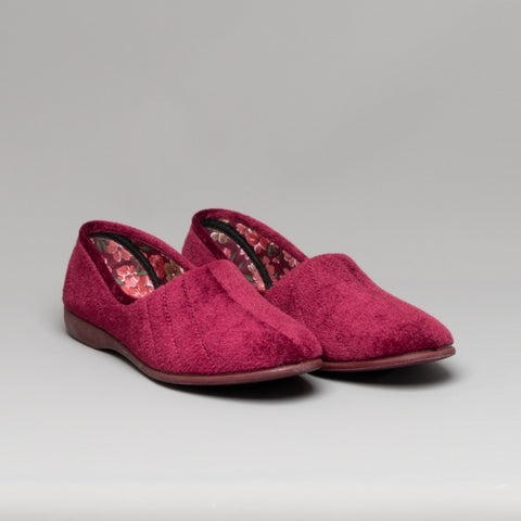 Ladies Slippers by Sleepers Audrey in Wine LS392D