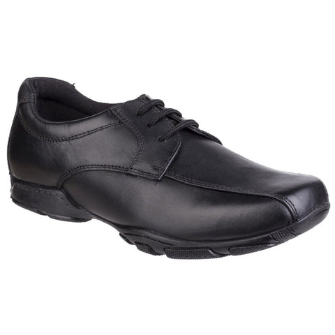 Hush Puppies Vincent BLACK Leather School Shoes