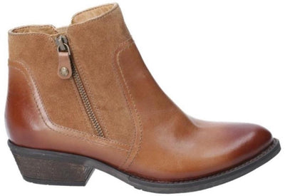 Hush Puppies Ankle boot with zip  Isla Tan leather