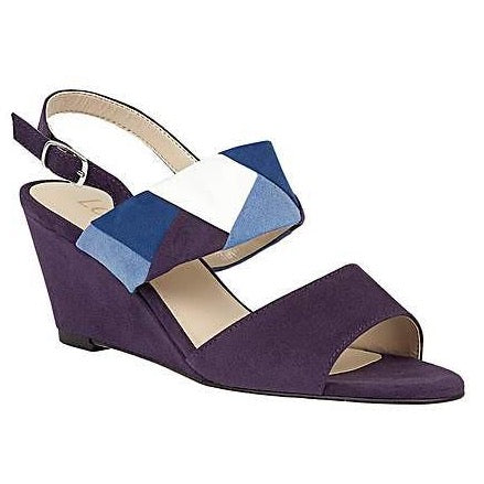 Lotus Alpha Ladies Blue Multi Wedges