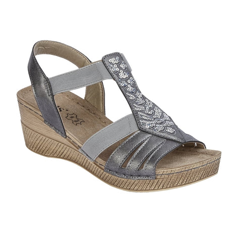 Lotus 20422 Saltaran Wedge Sandal Grey