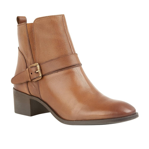 Lotus Tan Indus Leather Heeled Ankle Boots