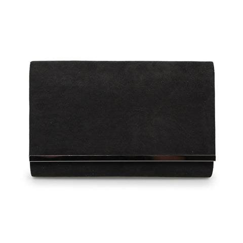 Lunar Jayla Faux Suede Clutch Bag