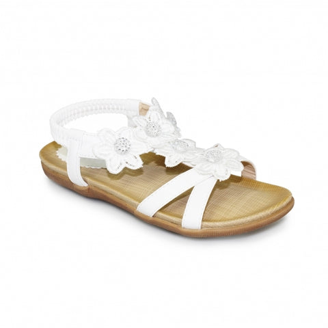 Little Ladies Lunar Sandal JLH002 Fiji in white