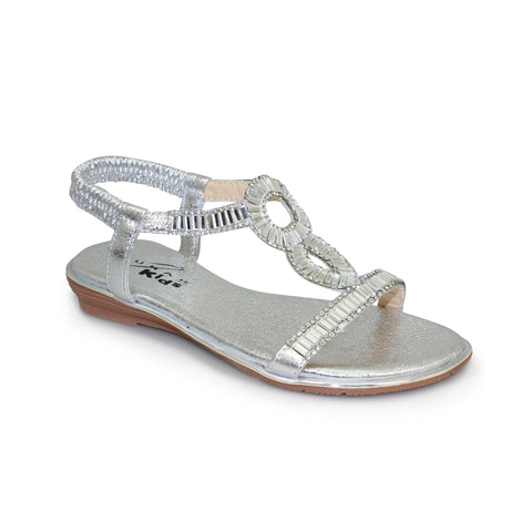 Little Ladies Lunar Sandal JCH004 Samantha in Silver