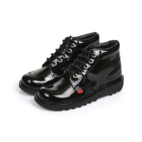 Kick Hi J/Y 31-39 BLACK  Patent Leather