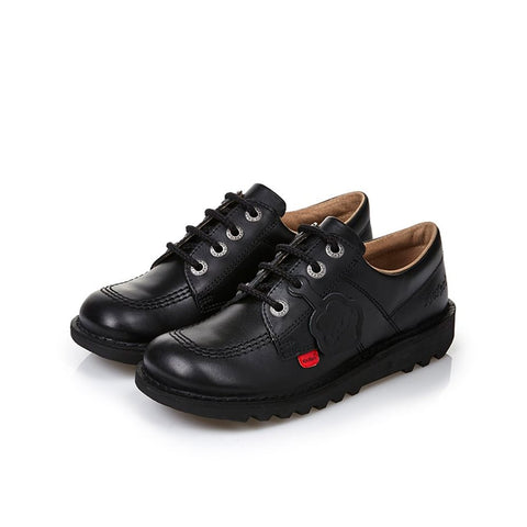 Kickers Kick Lo J/Y BLACK Leather Classic Shoe