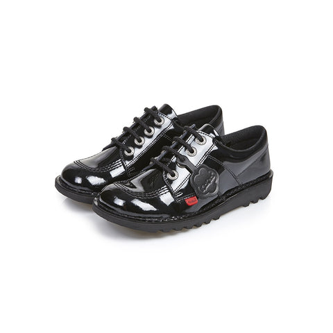 Kickers Kick Lo J/Y BLACK  Patent Leather Classic Shoe