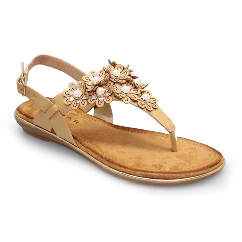Lunar Kinsley Toe Post Sandal BEIGE JLY103WT