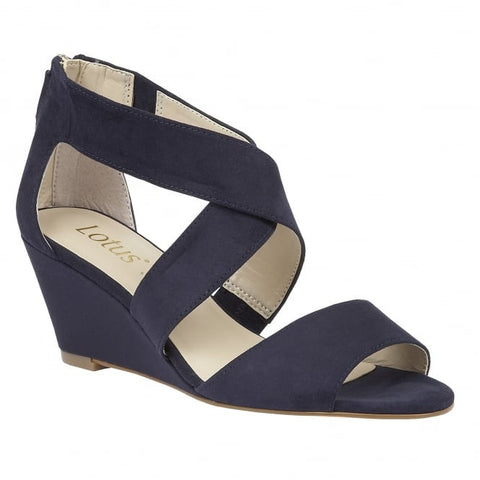 Lotus Cheeney Navy Ladies Shoes 50748