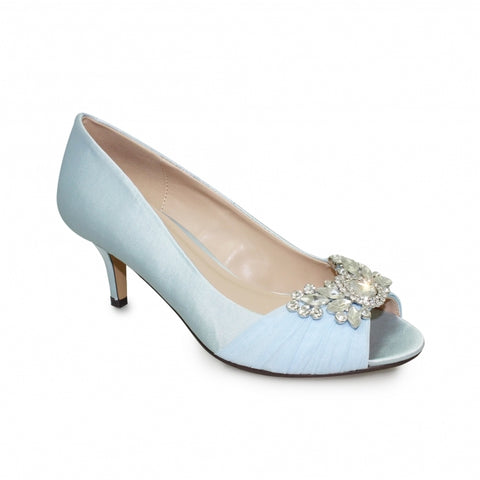 Ladies Lunar Court Shoe FLR460 Allure in Blue matching bag available