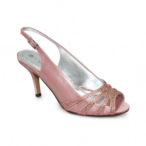Ladies Lunar Court Shoe FLR469 Cosmic in Pink matching bag available