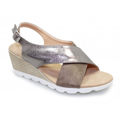 Lunar Ladies Eleonora PEWTER metalic  JLY128PW Sandal