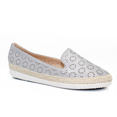 Lunar Sharni Diamante Espadrille Pump FLY118GR