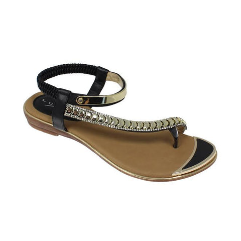 Ladies Lunar Sandal JLH753 Asia Black Toe Post