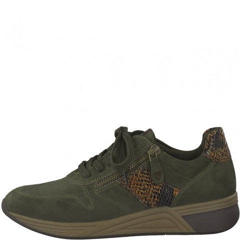 Marco Tozzi 23774 KHAKI Vegan Friendly Sneakers