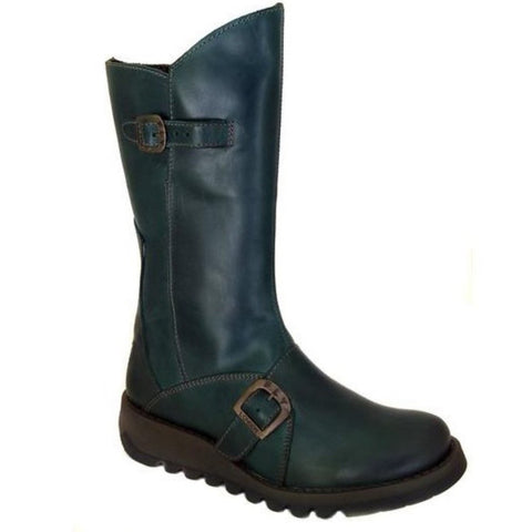 Fly London  Mid Calf Boot MES 2 Petrol Leather
