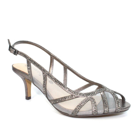 Lunar Miley PEWTER Gemstone Wider Fit Sandal FLR539