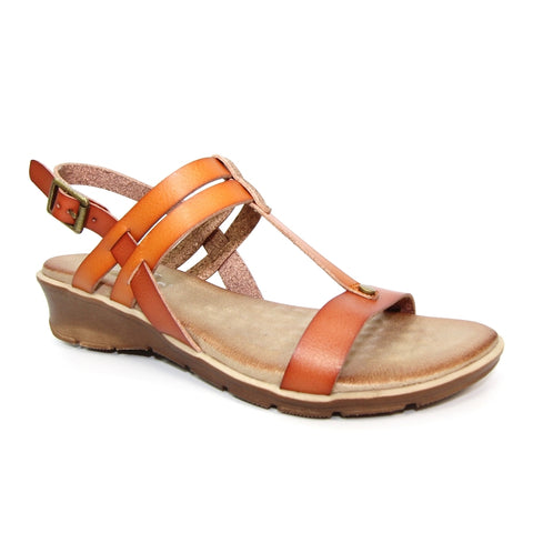 Lunar Mona TAN JLH159 faux leather Sandal