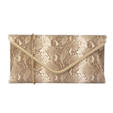 Lotus Sommerton NATURAL SNAKE Clutch Bag