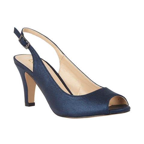 Lotus Larissa NAVY Peep Toe Occasion Shoes