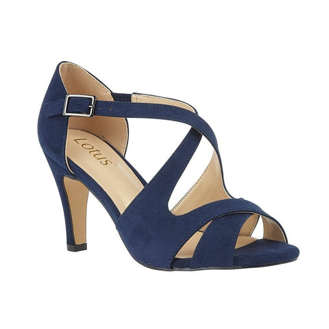 Lotus Sadia NAVY Strappy Dress Sandals ULS157