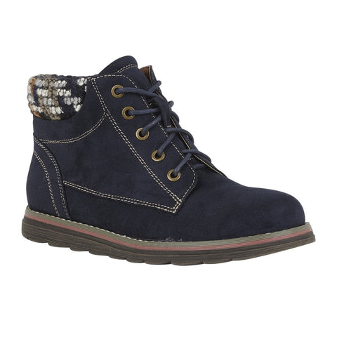 Lotus Sycamore NAVY Lace up ankle boot with Zip