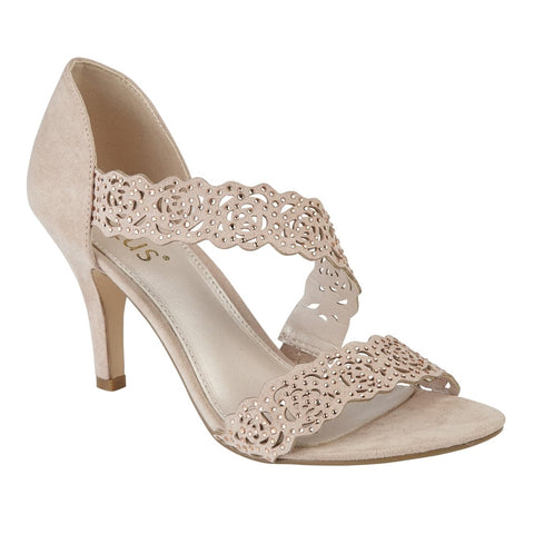 Lotus 50883 Nude & Diamante Cattleya Open-Toe Sandals