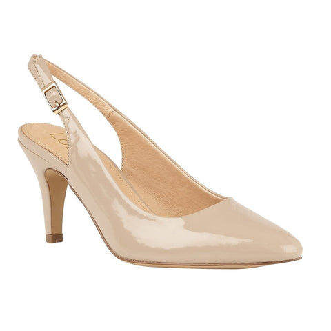 Lotus Ladies Nude Patent Lizzie Sling-Back Shoes