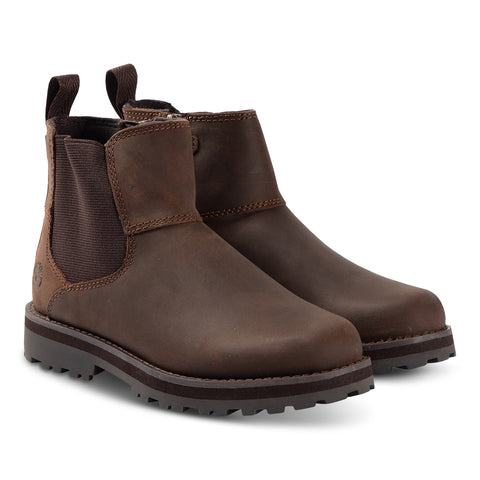 Timberland Courmakid BROWN Leather A28QW CHELSEA Boot