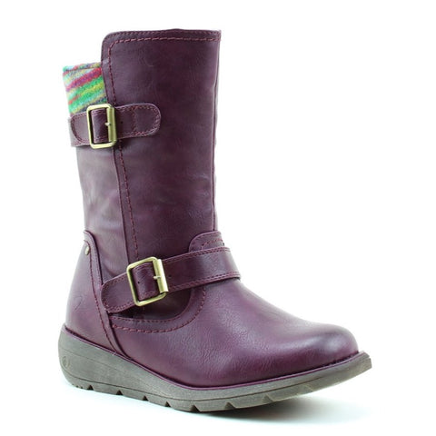 Heavenly Feet Pacific BERRY Mid Calf Boot