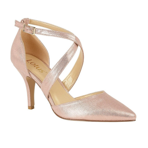 Lotus Justine PINK metalic bar shoe