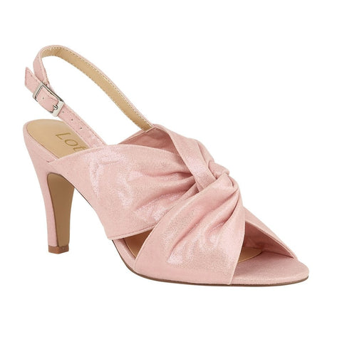 Lotus Leandra PINK shimmer open toes shoes