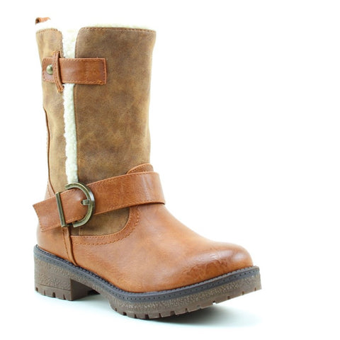 Heavenly Feet Rapport Mid Calf Boot in Camel