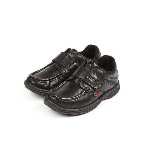 Kickers Reasan  BLACK Velcro Strap Boys shoe