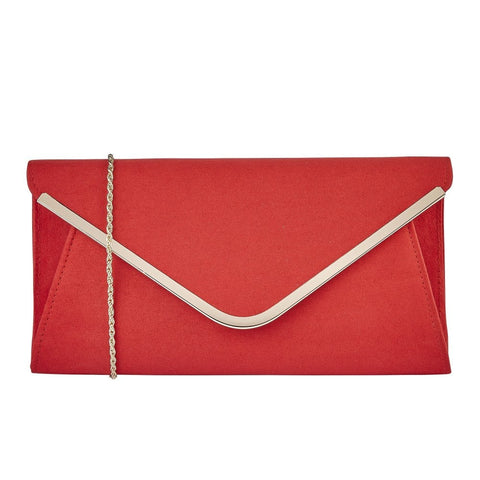 Lotus RED Microfibre SOMMERTON Clutch Bag To Match Dakota Shoes