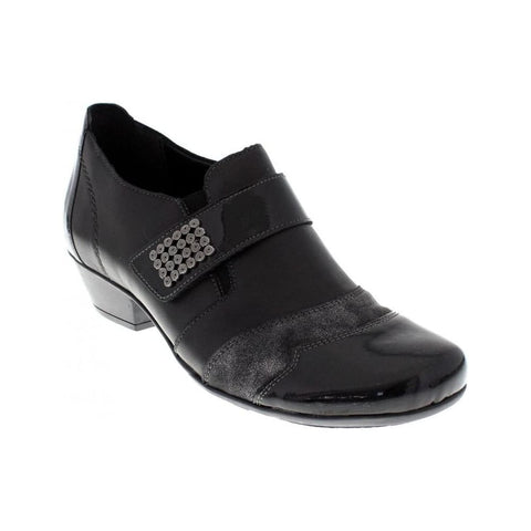 REMONTE D7333-01 LADIES BLACK COMBINATION SHOES