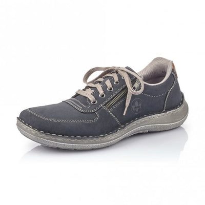 Rieker Men's Casual shoe with Lace and Zip 03030-14 NAVY