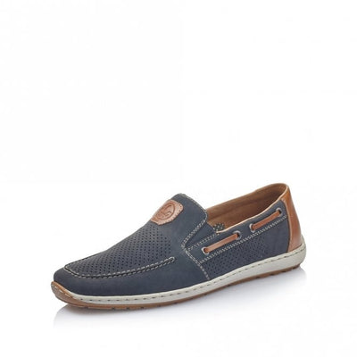 Rieker Men's casual slip-on Shoe 08866-15 Navy Blue