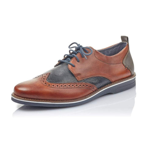 Rieker BROWN 12532-24 Lace Up Brogue Shoes