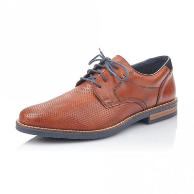 Rieker Men's Lace up shoe13511-24 Tan Brown