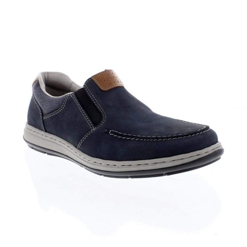 RIEKER Mens 17360-15 SLIP ON ELASTIC BLUE SHOES